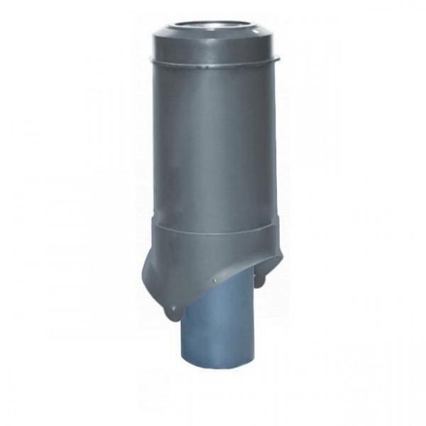 Выход канализации Krovent Pipe-VT 125/100 ИЗ серый