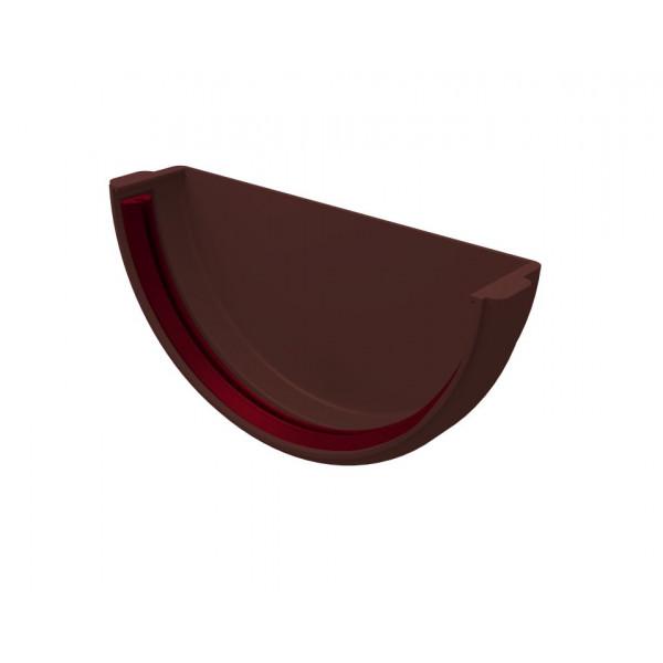 Заглушка желоба универсальная ПВХ Grand Line шоколадная (RAL 8017)