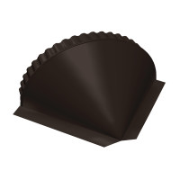 Заглушка конусная PE RR 32 темно-коричневый
