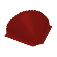 Заглушка малая конусная PE RAL 3011 коричнево-красный