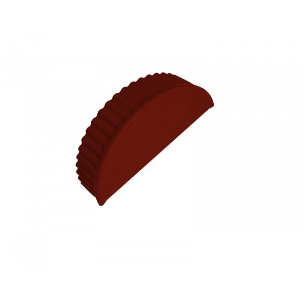 Заглушка малая торцевая PE RAL 3009 оксидно-красный